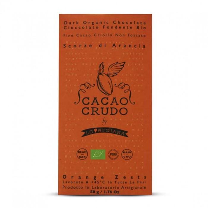 Tavoletta Fondente Scorza di Arancia - Cacao Crudo