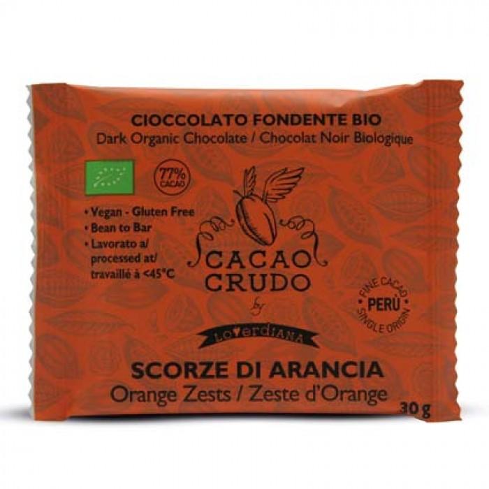 Tavoletta Fondente Scorze di Arancia - Cacao Crudo