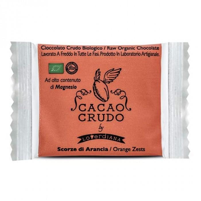 Tavoletta Fondente Quadrato Scorza di Arancia - Cacao Crudo