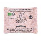 Tavoletta Fondente Sale dell'Himalaya e Granella di Cacao - Cacao Crudo